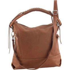 Torebki klasyczne damskie: Skórzana torebka w kolorze jasnobrązowym – 32 x 35 x 10 cm