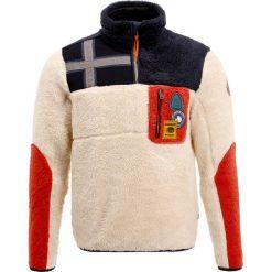 Napapijri YUPIK HALF  Bluza z polaru white. Szare bluzy męskie rozpinane marki Napapijri, l, z materiału, z kapturem. W wyprzedaży za 567,20 zł.