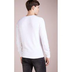 Drumohr FELPA SPUGNA Sweter bianco. Białe swetry klasyczne męskie marki Bambi, l, z nadrukiem, z okrągłym kołnierzem. Za 959,00 zł.