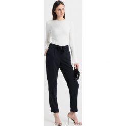 Spodnie z wysokim stanem: Dorothy Perkins Tall TIE WAIST TROUSER Spodnie materiałowe navy