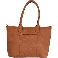 """Skórzany shopper bag """"Joanny"""" w kolorze karmelowym - 40 x 32 x 19 cm. Brązowe shopper bag damskie Spéciale Maroquinerie, z materiału, pikowane. W wyprzedaży za 108,95 zł."""