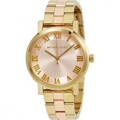 """Zegarek kwarcowy """"Norie Blush"""" w kolorze różowozłotym. Żółte, analogowe zegarki damskie marki Michael Kors, ze stali. W wyprzedaży za 522,95 zł."""