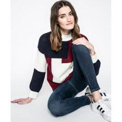 Answear - Sweter. Szare swetry klasyczne damskie marki ANSWEAR, l, z poliesteru, z długim rękawem, długie. W wyprzedaży za 99,90 zł.