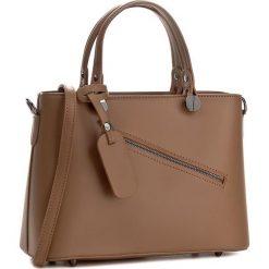 Torebka CREOLE - K10222 Jasny Brąz. Brązowe torebki klasyczne damskie Creole, ze skóry. W wyprzedaży za 209,00 zł.