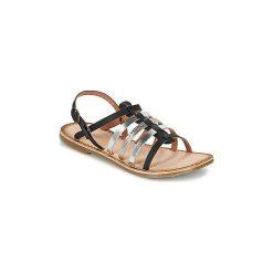 Sandały Dziecko  Kickers  DIXMILLION. Niebieskie sandały dziewczęce marki Kickers, z kauczuku, na sznurówki. Za 167,30 zł.