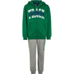 Spodnie dresowe męskie: Champion HOODED FULL ZIP Dres green/oxford grey