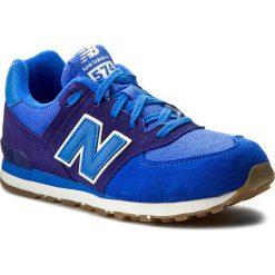 Sneakersy NEW BALANCE - KL574ESG Granatowy Niebieski. Szare trampki chłopięce marki New Balance, na lato, z materiału. W wyprzedaży za 199,00 zł.
