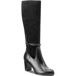 Kozaki GINO ROSSI - Frida DKH556-S47-0175-9999-F 99/99. Czarne buty zimowe damskie marki Gino Rossi, z materiału, na obcasie. W wyprzedaży za 399,00 zł.