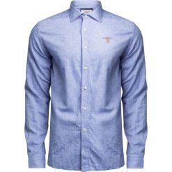 Koszule męskie na spinki: Koszula AERONAUTICA MILITARE Niebieski