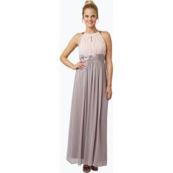 Marie Lund - Damska sukienka wieczorowa, beżowy. Brązowe sukienki balowe Marie Lund, z szyfonu. Za 349,95 zł.