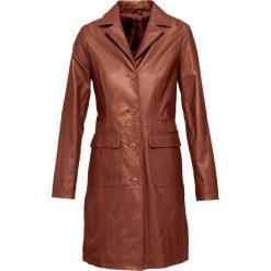 Płaszcze damskie: Płaszcz skórzany bonprix koniakowy