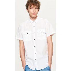 Koszule męskie: Koszula z krótkim rękawem – Biały