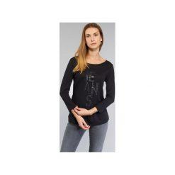 T-shirty z długim rękawem Armani jeans  LIVORAK. Czarne t-shirty damskie marki Armani Jeans, z jeansu. Za 398,30 zł.