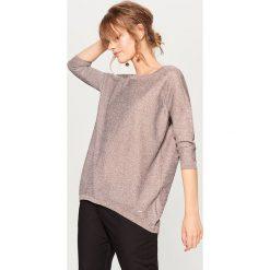 Sweter z metaliczną nitką - Beżowy. Brązowe swetry klasyczne damskie Mohito, l. Za 99,99 zł.