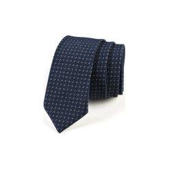 Krawat męski  MURAS. Niebieskie krawaty męskie HisOutfit, z materiału. Za 129,00 zł.