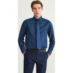 Wzorzysta koszula slim fit - Granatowy. Niebieskie koszule męskie slim marki Reserved, l. Za 139,99 zł.