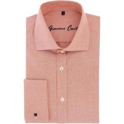 Koszula RICCARDO 16-05-22-K. Czerwone koszule męskie na spinki Giacomo Conti, m, z bawełny, z klasycznym kołnierzykiem, z długim rękawem. Za 199,00 zł.