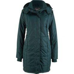 Długa kurtka pikowana, ocieplana bonprix niebieskozielony. Niebieskie kurtki damskie pikowane marki bonprix. Za 189,99 zł.