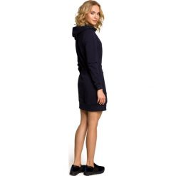ALIVIA Mini sportowa sukienka z kapturem - granatowa. Czarne sukienki mini marki Sinsay, l, z kapturem. Za 159,90 zł.