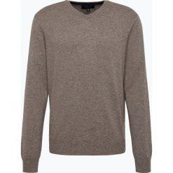 Andrew James - Sweter męski z czystego kaszmiru, beżowy. Brązowe swetry klasyczne męskie Andrew James, m, z kaszmiru, z dekoltem w serek. Za 549,95 zł.