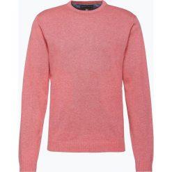 Finshley & Harding - Sweter męski – Pima-Cotton/Kaszmir, czerwony. Czarne swetry klasyczne męskie marki Finshley & Harding, w kratkę. Za 199,95 zł.