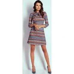 Odzież damska: Boho Wizytowa Taliowana Sukienka z Wiązaniem