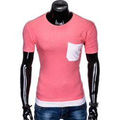 T-SHIRT MĘSKI BEZ NADRUKU S963 - RÓŻOWY. Fioletowe t-shirty męskie z nadrukiem marki KIPSTA, m, z elastanu, z długim rękawem, na fitness i siłownię. Za 29,00 zł.