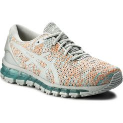 Buty sportowe damskie: Buty ASICS – Gel-Quantum 360 Knit 2 T890N Glacier Grey/Orange Pop/Aruba Blue 9609