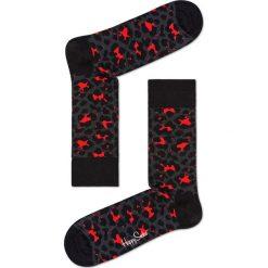 Happy Socks - Skarpetki Leopard. Czarne skarpetki damskie Happy Socks. Za 39,90 zł.