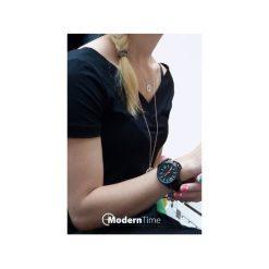 Zegarek OOZOO Steel OS411 Black Lumi. Czarne, analogowe zegarki damskie Moderntime, ze stali. Za 369,00 zł.