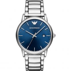 Zegarek EMPORIO ARMANI - Luigi AR11089  Silver/Silver. Szare zegarki męskie marki Emporio Armani, l, z nadrukiem, z bawełny, z okrągłym kołnierzem. Za 979,00 zł.