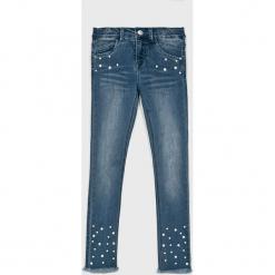 Name it - Jeansy dziecięce 128-164 cm. Czerwone rurki dziewczęce marki Name it, l, z nadrukiem, z bawełny, z okrągłym kołnierzem. Za 139,90 zł.
