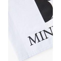 Mango Kids - Top dziecięcy Minniect 110-164 cm. Szare bluzki dziewczęce Mango Kids, z aplikacjami, z bawełny, z okrągłym kołnierzem. W wyprzedaży za 39,90 zł.