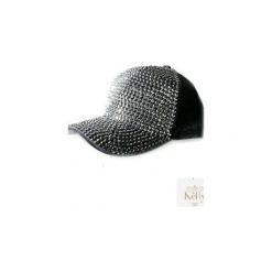 Czapka damska z kamieniami Angel. Szare czapki z daszkiem damskie Kelly couronne, w paski. Za 69,00 zł.