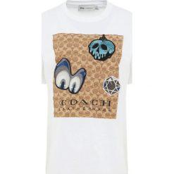 Coach DISNEY SIGNATURE EYES Tshirt z nadrukiem white. Czarne t-shirty damskie marki Coach. Za 629,00 zł.