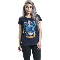 Harry Potter Ravenclaw Crest Koszulka damska ciemnoniebieski. Niebieskie bluzki asymetryczne Harry Potter, l, z nadrukiem, z bawełny, z dekoltem w serek. Za 74,90 zł.