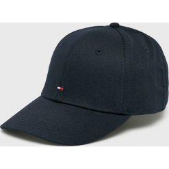Tommy Hilfiger - Czapka. Szare czapki z daszkiem męskie marki TOMMY HILFIGER, m, z nadrukiem, z bawełny, casualowe, z okrągłym kołnierzem. Za 119,90 zł.