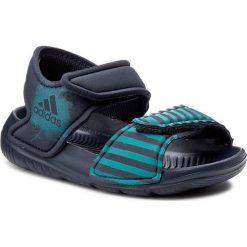 Sandały adidas - AltaSwim I BA7851  Midgre/Labgrn/Midgre. Czarne sandały chłopięce marki Adidas, do piłki nożnej. Za 119,00 zł.