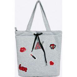 Answear - Torebka. Szare torebki klasyczne damskie marki ANSWEAR, z materiału, duże. W wyprzedaży za 69,90 zł.