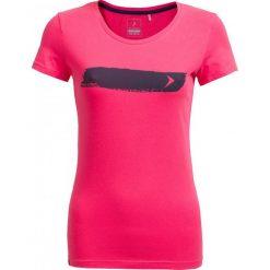 T-shirt damski  TSD606 - różowy - Outhorn. Szare t-shirty damskie marki Outhorn, melanż, z bawełny. W wyprzedaży za 24,99 zł.