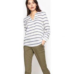 Bluzki asymetryczne: Bluzka z nadrukiem, długi rękaw
