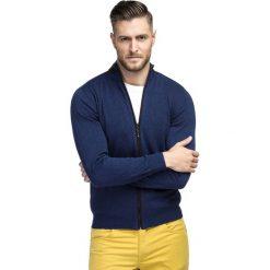 Sweter LADISLAO SWGR000196. Niebieskie swetry rozpinane męskie marki Giacomo Conti, na jesień, m, z bawełny. Za 249,00 zł.