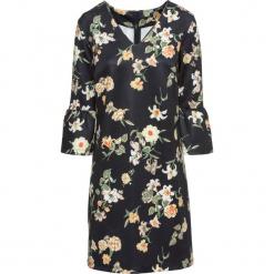 Sukienka neoprenowa z falbanami bonprix czarny z nadrukiem. Czarne sukienki balowe bonprix, z nadrukiem, z neoprenu. Za 129,99 zł.