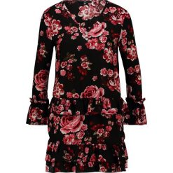 Sukienki hiszpanki: Missguided Petite FLORAL BUTTON UP FRILL TRIM DRESS  Sukienka letnia black/red