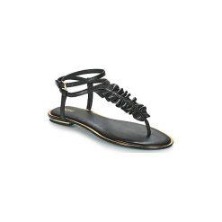 Sandały MICHAEL Michael Kors  BELLA TONG. Czarne sandały damskie marki MICHAEL Michael Kors, z gumy, przed kolano, na wysokim obcasie. Za 589,00 zł.