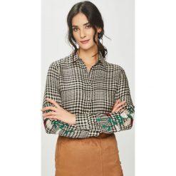 Answear - Koszula. Szare koszule damskie ANSWEAR, l, z haftami, z materiału, z długim rękawem. Za 99,90 zł.