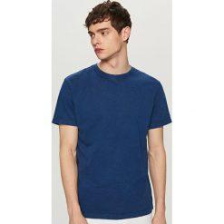 T-shirty męskie: T-shirt ze spranej bawełny – Granatowy