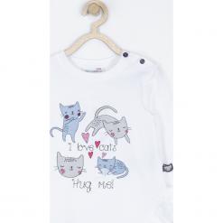 Koszulka. Białe bluzki dziewczęce bawełniane marki LOVE CATS, z napisami, z długim rękawem. Za 42,90 zł.