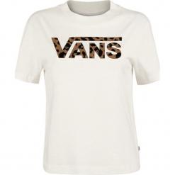 Vans Spotted Koszulka damska kremowy. Białe bluzki z odkrytymi ramionami marki Vans, s, z nadrukiem, prążkowane, z okrągłym kołnierzem. Za 121,90 zł.