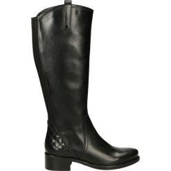 Kozaki - PEARL1835 BLA. Czarne buty zimowe damskie marki Venezia, ze skóry. Za 419,00 zł.